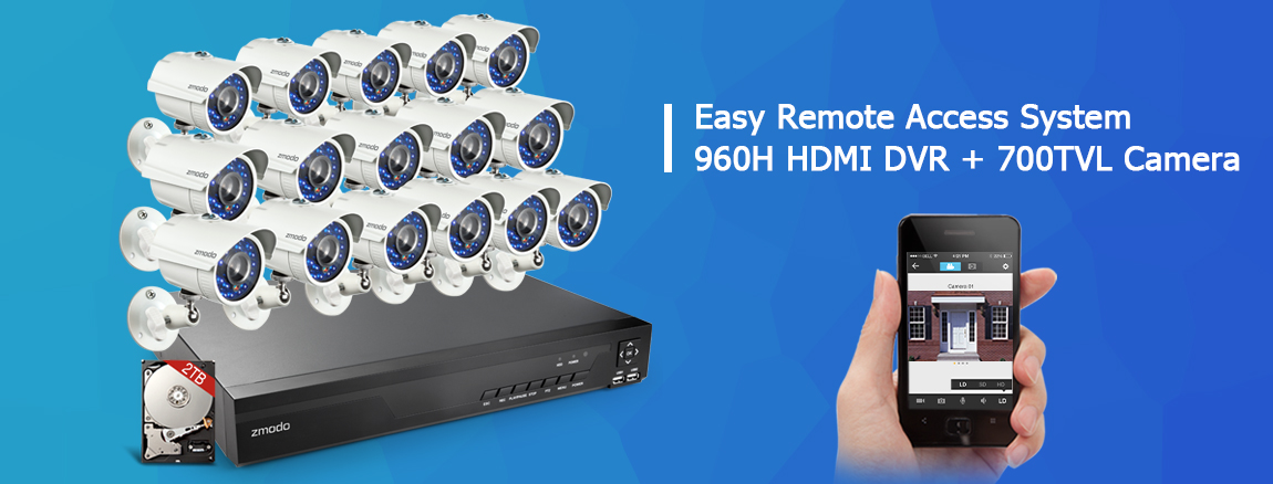 700TVL security cameras system