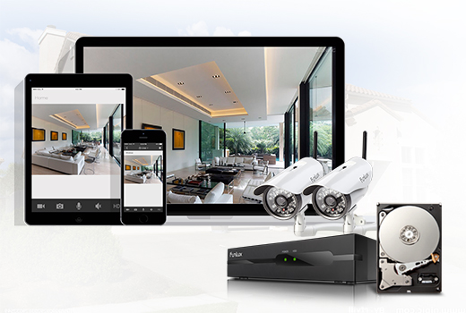 security camera system with smart recording