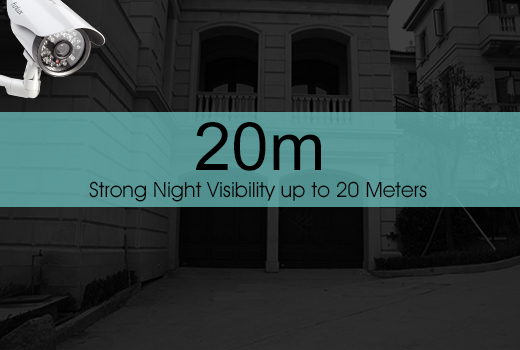 Night Visibility up to 20 Meters