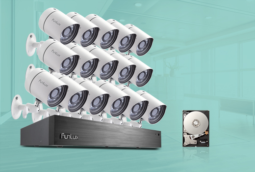 16 channel 16 camera security system
