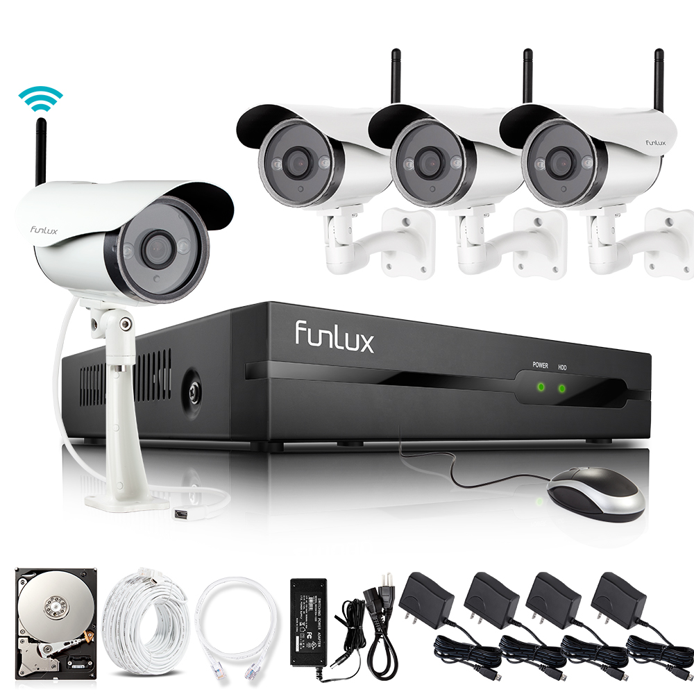 4 channel security camera system with 1 TB hdd