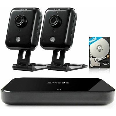 Refurbished  Zmodo Replay 4CH NVR 2*720p HD Indoor WiFi Secuirty Camera System 500GB HDD