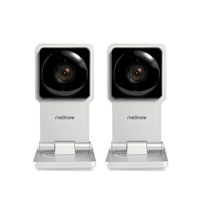2 Meshare EZCam 720P HD Mini Wifi Network IP Camera w/ Two-Way Audio( Refurbished )