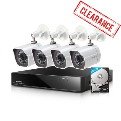 Refurbished Funlux 8CH DVR 4 Bullet Security Cameras System with 500GB HDD