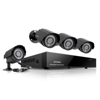 Zmodo 4 Channel DVR Video Surveillance System-500GB HDD & 4 600TVL Cameras